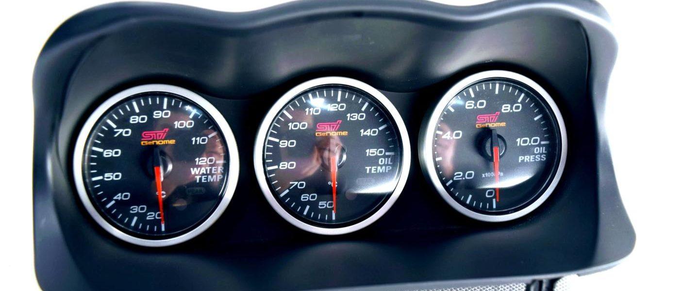 Zegary DEFI STI GENOME kpl z daszkiem Subaru Impreza STI