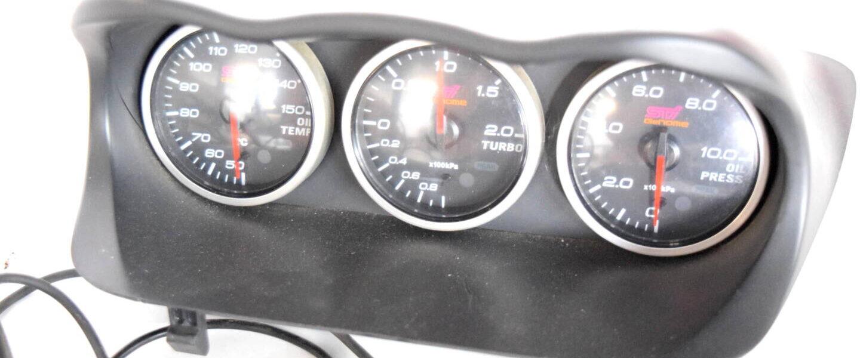 Zegary DEFI STI GENOME kpl z daszkiem Subaru Impreza STI 2001-2007
